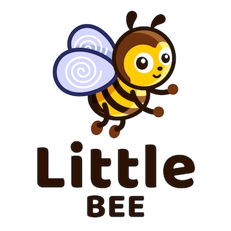 Kleine biene scherzt niedliches logo