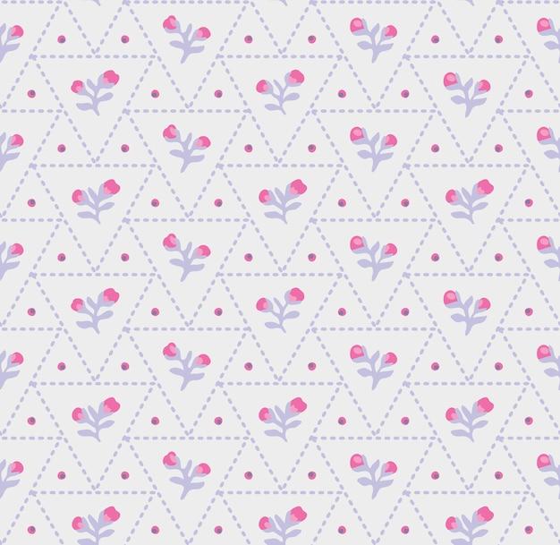 Kleine blume geometrisch mit dreieck