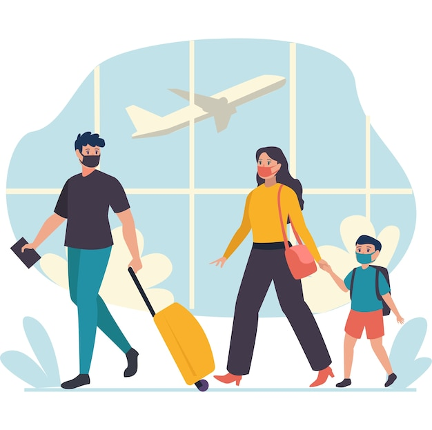 Kleine familien wollten das flugzeug als transportmittel für weit reisende ziele nutzen