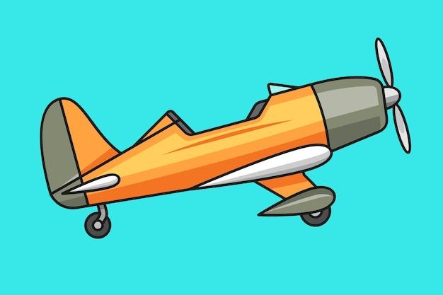 Kleine flugzeugillustration