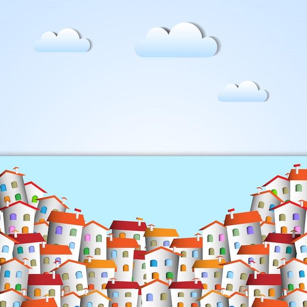 Kleine papierstadt