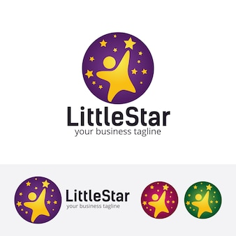 Kleine sterne-vektor-logo-vorlage
