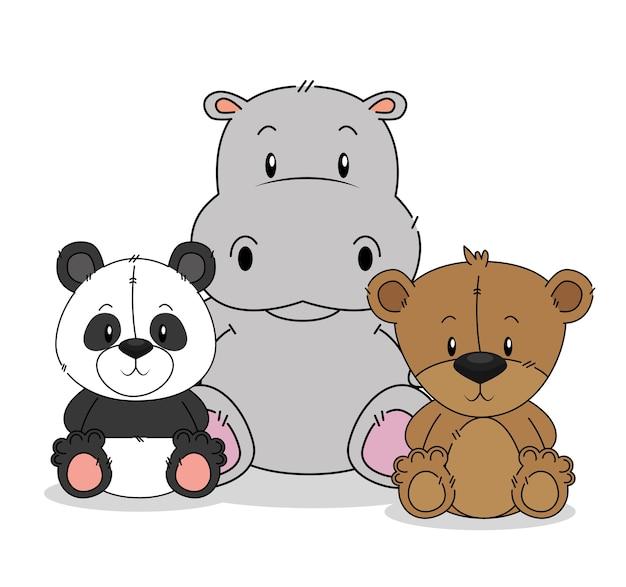 Kleine süße tiergruppe