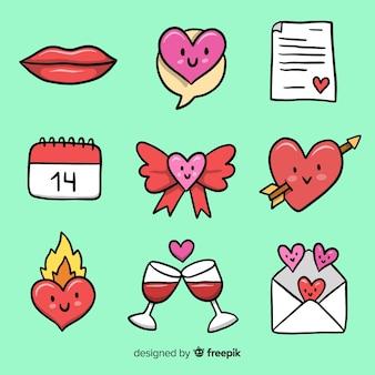 Kleine valentinstagselemente