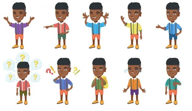 Kleiner afrikanischer jungenzeichensatz