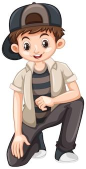 Kleiner junge mit einem glücklichen lächeln