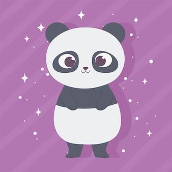 Kleiner karikatur tier entzückender wilder charakter kleiner panda
