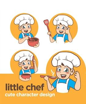 Kleiner koch mit süßem charakter