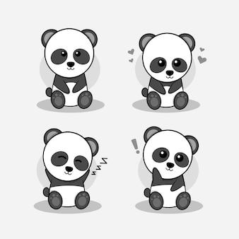 Kleiner panda charakter