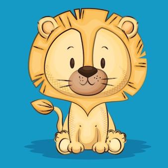 Kleiner süßer löwe charakter