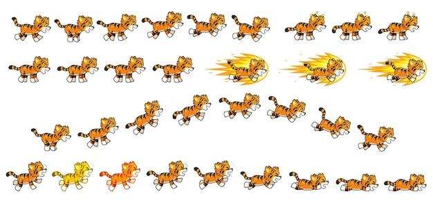 Kleiner tiger spiel sprites