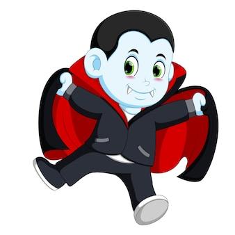 Kleiner vampir der lustigen karikatur