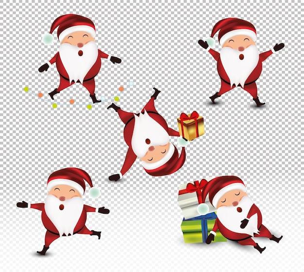 Kleiner weihnachtsmann mit geschenkset