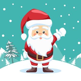 Kleiner weihnachtsmannentwurf für frohe weihnachten