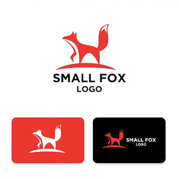 Kleines fuchs einfaches logo design