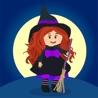 Kleines hexenmädchen