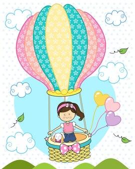Kleines Mädchen im Ballon
