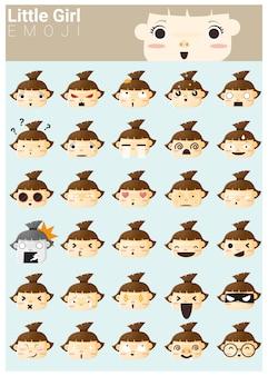 Kleines mädchen emoji-icons