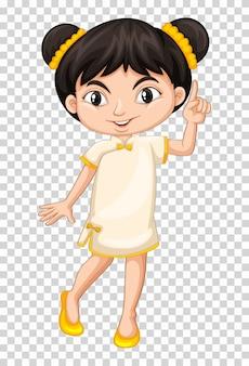 Kleines mädchen im chinesischen kostüm