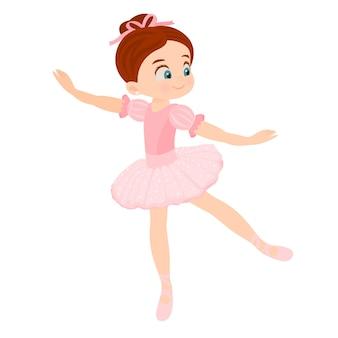 Kleines mädchen in ballettklassen