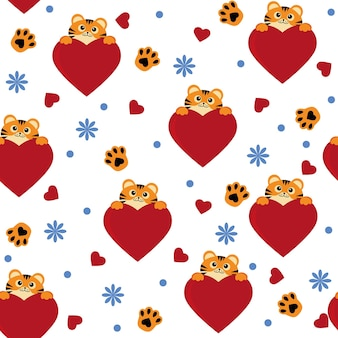 Kleines tigermuster, farbvektor lokalisierte karikaturartillustration.