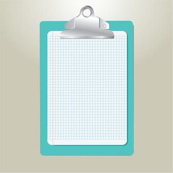 Klemmbrett mit papier, vektorillustration