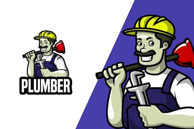 Klempner - maskottchen-logo-vorlage
