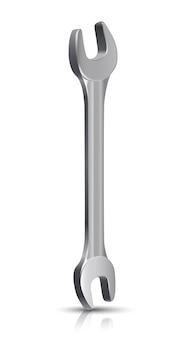 Klempner master instrument, schraubenschlüssel. auf weißem hintergrund.