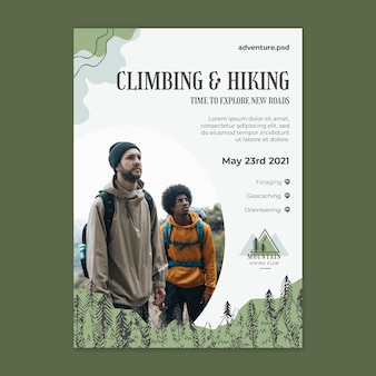 Kletter- und wanderplakat
