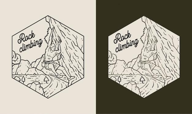 Klettern monoline logo abzeichen