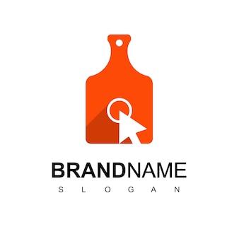 Klicken sie auf die designvorlage für das kochen des logos