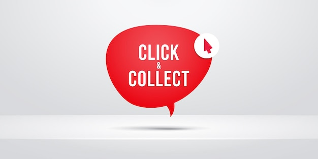 Klicken sie auf und sammeln sie die sprechblasenillustration