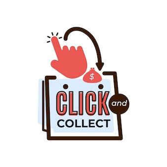 Klicken sie auf und sammeln sie ein detailliertes logo-zeichen