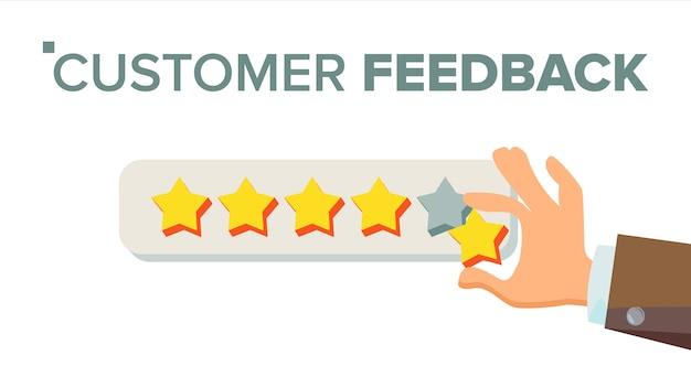 Klient, der bewertung gibt