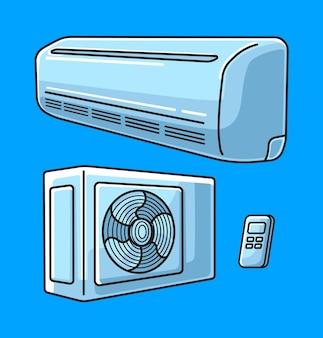 Klimaanlage ausrüstung cartoon einfach bearbeitbar