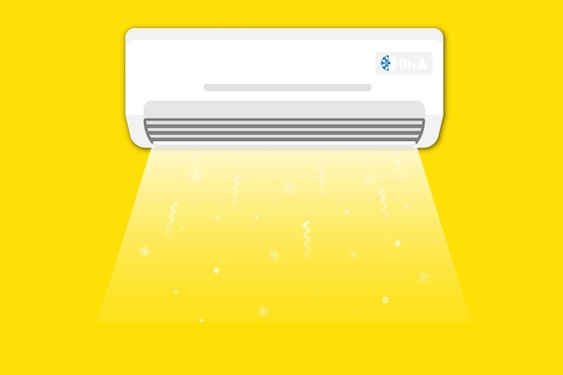 Klimaanlage. conditioner mit frischer luft. klimakonzept, hauskühlung, wohnkomfort
