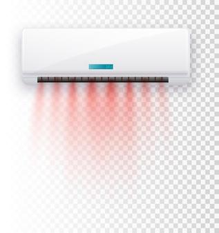 Klimaanlage isoliert vektor-illustration vektor-luftströmungen