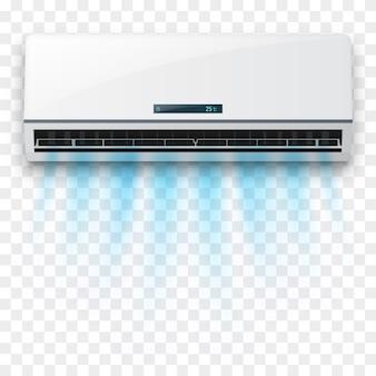 Klimaanlage mit frischluftstrom isoliert.