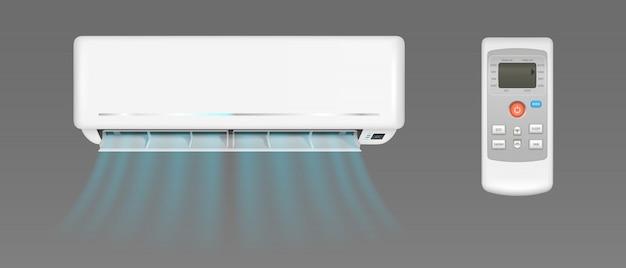 Klimaanlage mit kaltem wind und fernbedienung