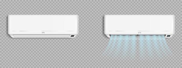 Klimaanlage mit kalten windwellen, klimaanlage