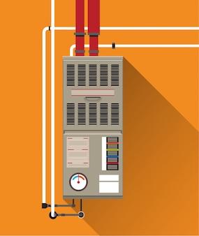 Klimaanlage mit röhren