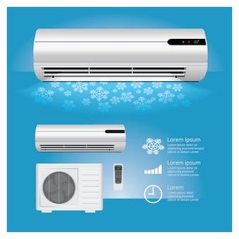 Klimaanlage realistisch und fernbedienung