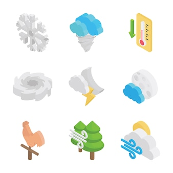Klimabedingungen icons