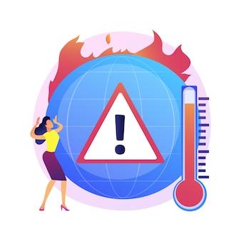 Klimawandel auf der erde, temperaturanstieg, globale erwärmung. mehrfachbrände, zerstörung von flora und fauna, schäden an der tierwelt und der menschheit.