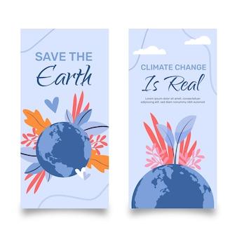 Klimawandel-banner im flachen design