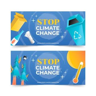 Klimawandel-banner mit farbverlauf