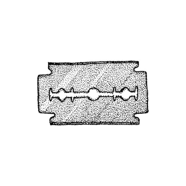 Klinge dotwork-vektor. handgezeichnete skizzen-illustration der tätowierung.