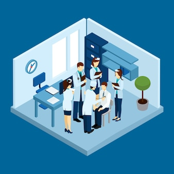 Klinik-personal-konzept