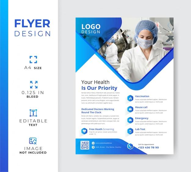 Klinikflyer, medizinische werbevorlage
