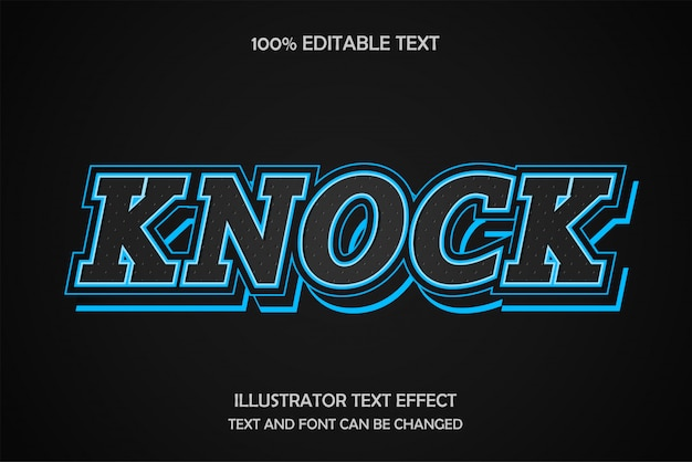 Klopfen sie, bearbeitbarer texteffektmuster-lichtschichtstil